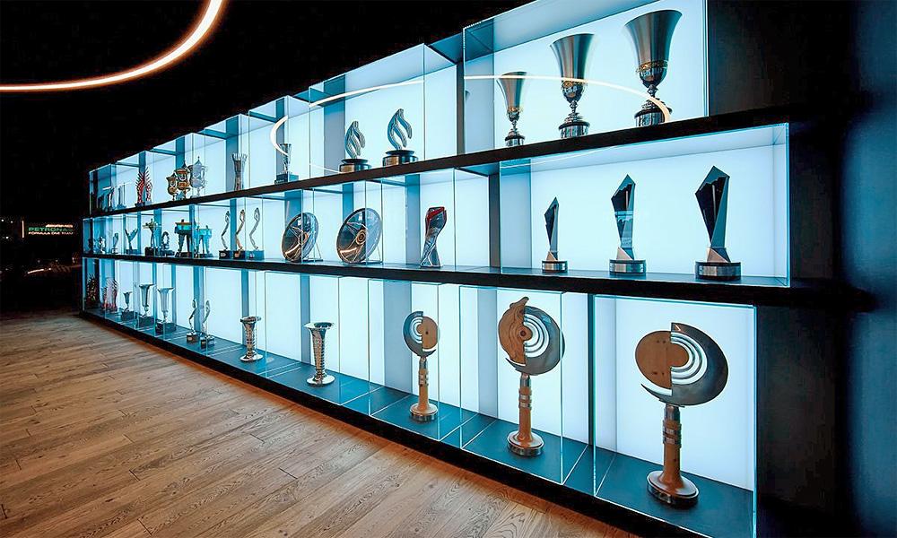 The BTHA Trophy Cabinet
